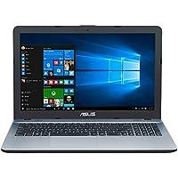 "ASUS D541NA-GQ264T - Ordenador Portátil de 15.6"" HD (Intel Celeron N3350, 4 GB RAM, 500 GB HDD, Intel HD Graphics 500, Windows 10 Home) Plateado - Teclado QWERTY español"