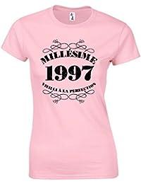 T-Shirt Anniversaire 20 Ans Femme Millésime 1997