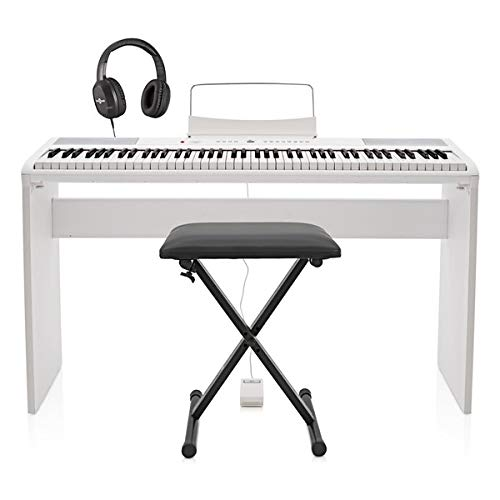 SDP-2 Stage Piano di Gear4music + Bundle Completo Bianco