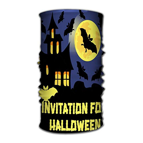 tion Magic Scarf Constructed with High Performance Rotating Illusion Tube Mask Invitation Halloween Party Card Mix Bats Castle Moon ()
