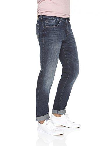 Michaelax-Fashion-Trade - Jeans - Jambe droite - Uni - Homme Bleu - Dark stone (68)