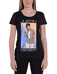 Justin Bieber T Shirt Colour Fade Purpose Official Womens Black Skinny Fit