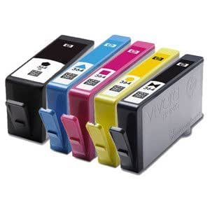 set of 5 high capacity 100 compatible ink cartridges for hp 364xl multipack photosmart 5510. Black Bedroom Furniture Sets. Home Design Ideas