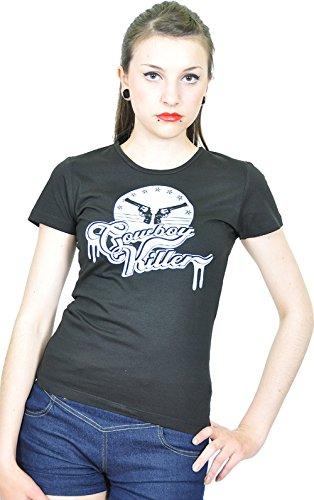 Killerkirsche Revolver Gun Cowboy kurzarm T - Shirt