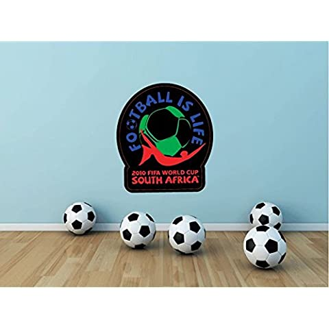 World Cup South Africa 2010 Calcio Calcio Sport parete vinile adesivo Home Decor, 63 x 55 cm - Calcio 2010 Di Calcio
