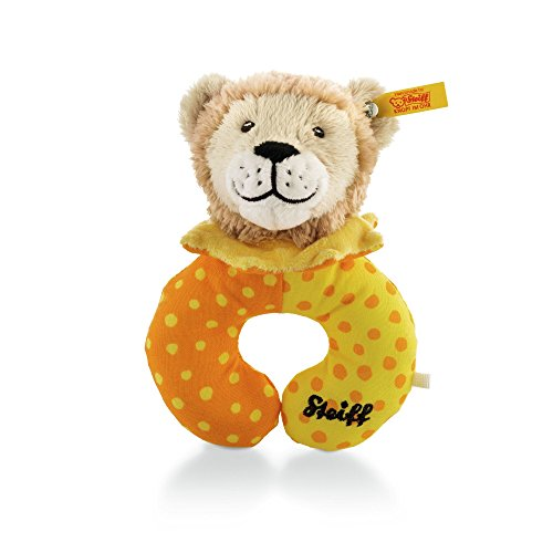Steiff 240638 - Leon Loewe Greifring 14, beige/gelb/orange