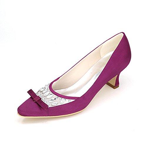 L@YC Tacchi alti Donna Primavera Estate autunno Autunno Inverno Piattaforma Satin Matrimonio e serata Piattaforma Heel Purple