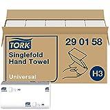 Tork Zickzack papieren handdoeken Universal 290158 - H3 vouwhanddoeken voor papieren handdoekdispenser - 1-laags, wit - 15 x 300 doeken
