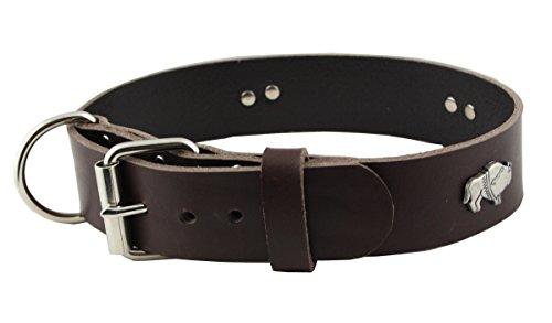 WESTERN-SPEICHER Hundehalsband Leder Indi Braun Größe 57 - 63cm Breite 4cm