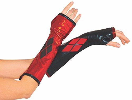 Rubie's Handschuhe wie von Harley Quinn, Kostüm-Zubehör für -