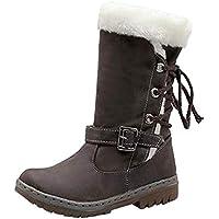 BBestseller-Botas botas mujer invierno, nieve de las mujeres de la moda zapatos planos zapatos de invierno botas de piel caliente