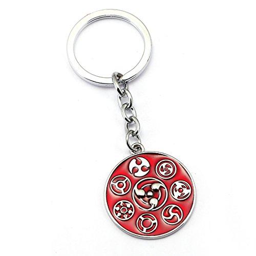 All Sharigan Logo Naruto Anime Keychain