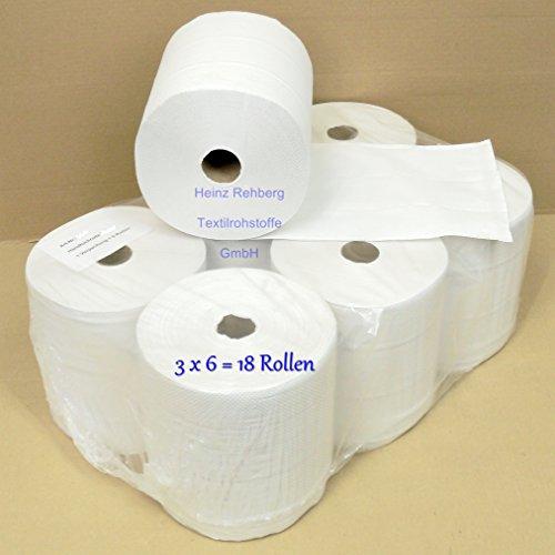 Preisvergleich Produktbild Rehberg´s Handtuchrollen 3 VE = 18 Papierrollen geeignet für TORK Matic Spender Rollenbreite 21 cm 140m 2-lagig 38mm-Kern Ø-18,5cm