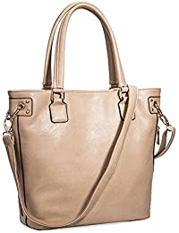 VANCOO Se?ora y los bolsos de hombro grande suave del estilo de la vendimia del cuero genuino de la bolsa de asas de la Mujer