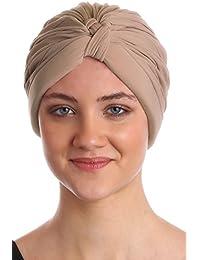 Turban de style W plissé pour Perte de Cheveux, Cancer, Chimio