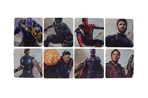 Marvel Avengers Infinity War Krieg Untersetzer, Hard Karte, Mehrfarbig, 1x 10x 10cm - Dem Und Universum Marvel-charakteren