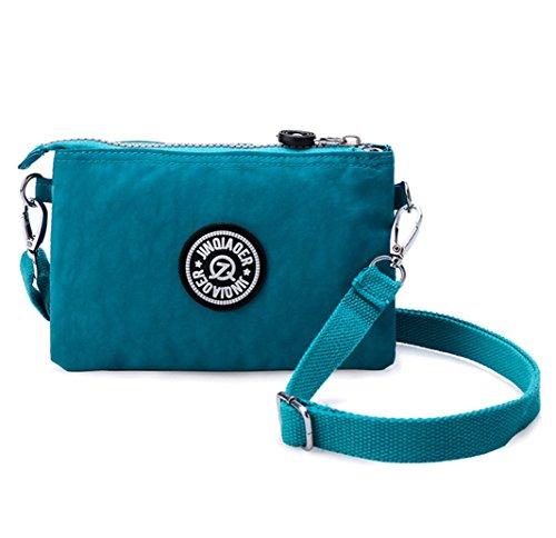 Damen-Handtasche von Tiny Chou, 3 Reißverschlussfächer, wasserfestes Nylon, mit Schulterriemen,...