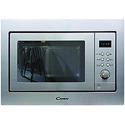 Candy MIC201EX - Microondas de encastre / integrado con grill, 20 L, 800 W / 1000 W, 8 programas automáticos, color gris