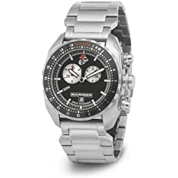 Wrist Armor Men's WA131G C3 Stainless Steel Analog Display Swiss Quartz Chronograph Watch with Stainless Steel Bracelet