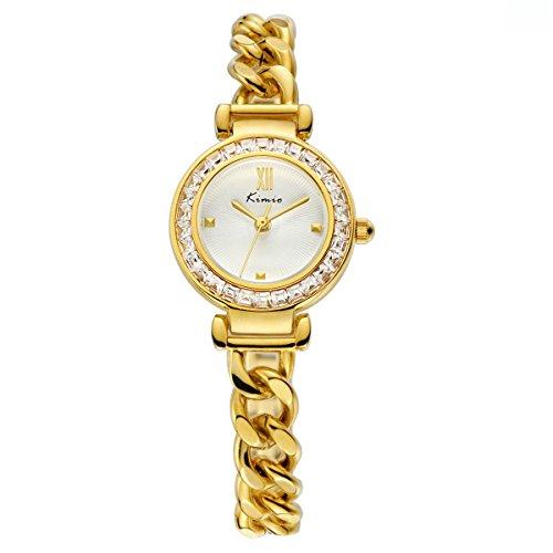 Für Frauen Louis Vuitton Uhren (wishar Kimio Legierung Armbanduhr Fashion Uhren Miss Gao GUI Frisch und elegant Frauen Armband Armbanduhr)