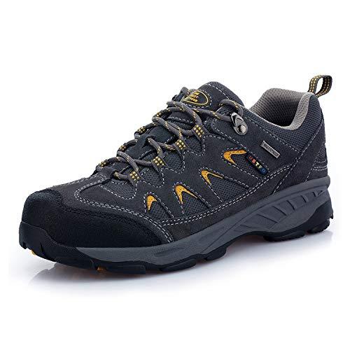 TFO Herren Trekking & Wanderschuhe Wasserabweisende und Atmungsaktive Outdoor Schuhe mit Rutsfeste Sohle, Dunkelgrau, 46 EU