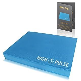 High Pulse® Balance Pad inkl. Übungsposter – Innovatives XXL Balancekissen für EIN gelenkschonendes Ganzkörpertraining und zur Verbesserung von Gleichgewicht, Koordination und Stabilität (Blau)