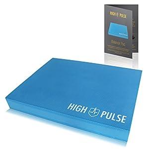 High Pulse® XXL Balance Pad inkl. Fitnessband + Poster – Balancekissen für EIN verbessertes Gleichgewicht, Koordination und Stabilität (Blau)