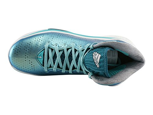 Chaussures de Basket ADIDAS D Rose 5 Boost Verte Vert / Blanc