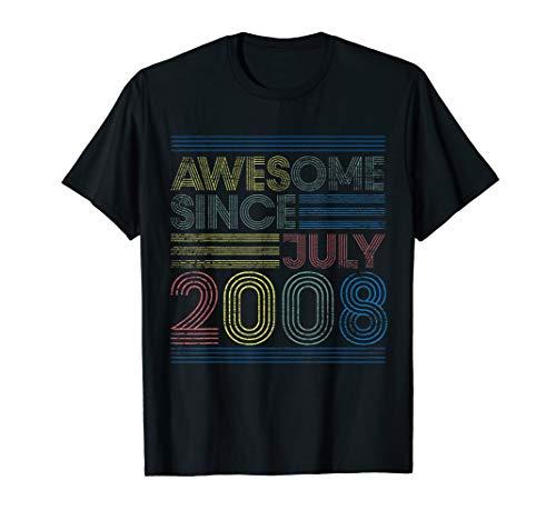 11. Geburtstag Geschenk Jahrestag - Genial Seit Juli 2008 T-Shirt - 2008 T-shirt