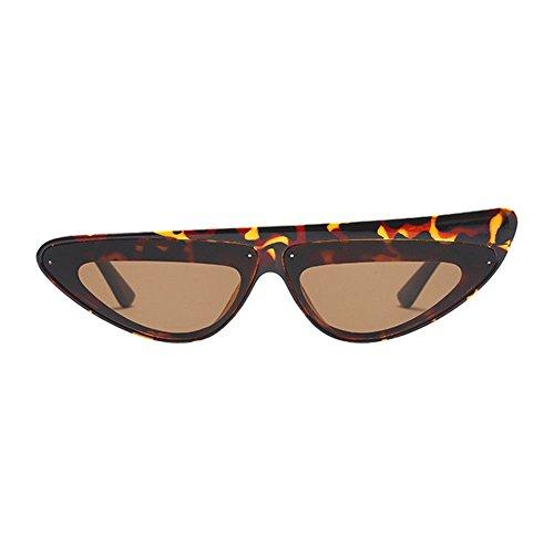 Haodasi Damen Klein Dreieck Rahmen Schicker Vintage Designer Cat Eye Nerdbrille Sexy Sonnenbrille