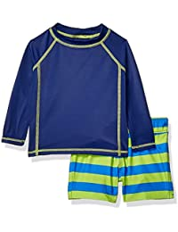 Amazon Essentials Baby Boy's 2-Piece Long-Sleeve Rashguard and Trunk Set