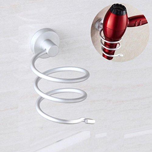 Durable support pour sèche-cheveux Bescita Espace de rack de stockage étagère murale en acier inoxydable