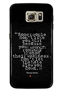 Samsung Galaxy S6 Cover Back Cover (3D Printed Designer Mobile Cover) By Clarks