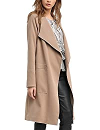 APART Fashion Women's Taupe-Black-Print Coat