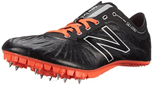 New Balance Women's SD200V1 Track Spike, Black/Orange, 10 B US Black/orange
