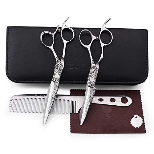 Knoijijuo Profi Haarschere Friseurschere 6 Zoll Haarschneideschere rostfrei 440c hohe Härte japanischen Salon Haare schneiden und Haar