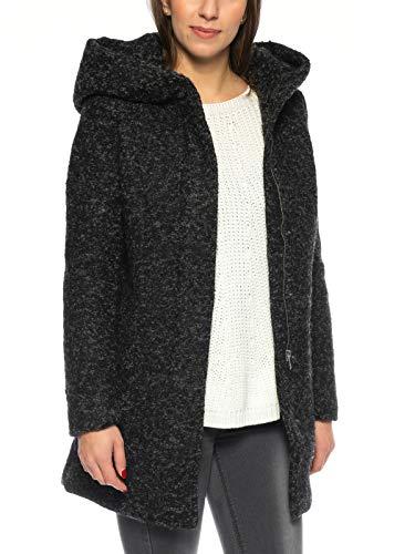 VERO MODA Damen Jacke VMVERODONA LS AW Jacket NOOS KI, Grau Dark Grey Melange, 36 (Herstellergröße: S)