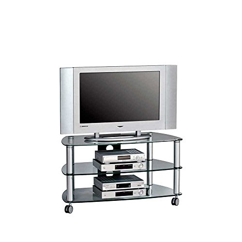 tv rack glas rollen bestseller shop f r m bel und einrichtungen. Black Bedroom Furniture Sets. Home Design Ideas