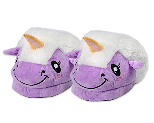 DSstyles-Lindo-Unicornio-Zapatillas-de-Felpa-Unicornio-Zapatos-Zapatillas-de-Casa-de-Novedad-Prpura