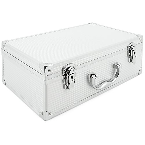 AR Carry Box® Alubox Alukoffer Aluminium Koffer Werkzeugkoffer leer 353x202x115mm Alu/Silber, 353x202x115mm Silber (leer)
