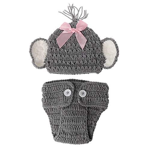 NINGYE Baby Strick-Kostüm, Elefant, für Neugeborene g