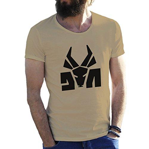 Die Antwoord Top Rap Star Ninja Yolandi Logo Herren T-Shirt Sand Beige