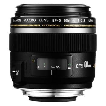 Canon 60 / 2,8 Macro USM - Objetivo para Canon (distancia focal fija 60mm, apertura f/2.8), Negro