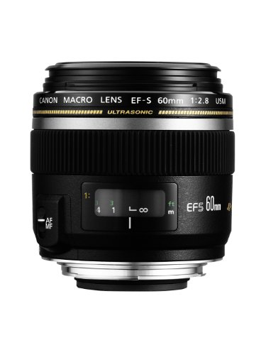 Canon EF-S 60mm F/2.8 USM Prime Lens for Canon DSLR Camera