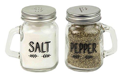 Deluxe Salz und Pfeffer Mason Glas Shaker Set
