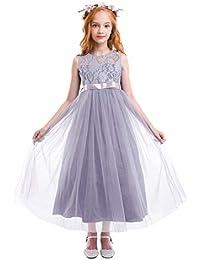 cd864a053 Amazon.co.uk  Grey - Dresses   Girls  Clothing