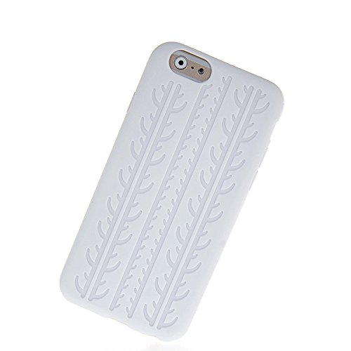 MOONCASE TPU Silicone Housse Coque Etui Gel Case Cover Pour Apple iPhone 6 Blanc Blanc 03