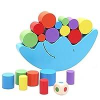 HIPENGYANBAIHU Wood Building Blocks Set Moon Balance Beam Toys Baby Education Toys