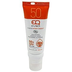 EQ   Combi stick 2 en 1 – Protector Solar Mineral SPF50 Y Stick Labios SPF50 – Doble protección Labial y Facial – Filtros Minerales – Protección UVA UVB muy alta – 20 ml