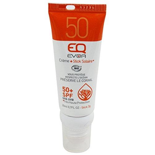 EQ EVOA - Protección Solar FPS 50 Combo Crema para Rostro y Barra de Labios - Alta protección Sin filtros químicos, ni PEG